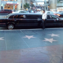 Hollywood-walk-of-fame-and-Limo